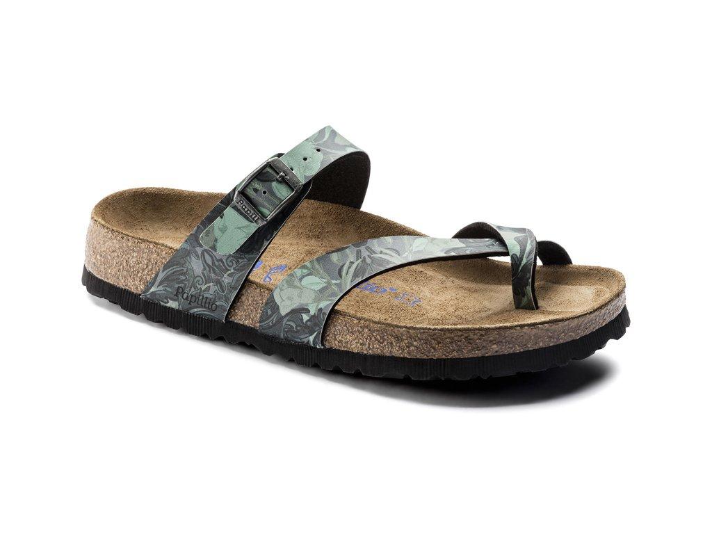 Zdravotní obuv Papillio Tabora Damask Petrol, měkká stélka