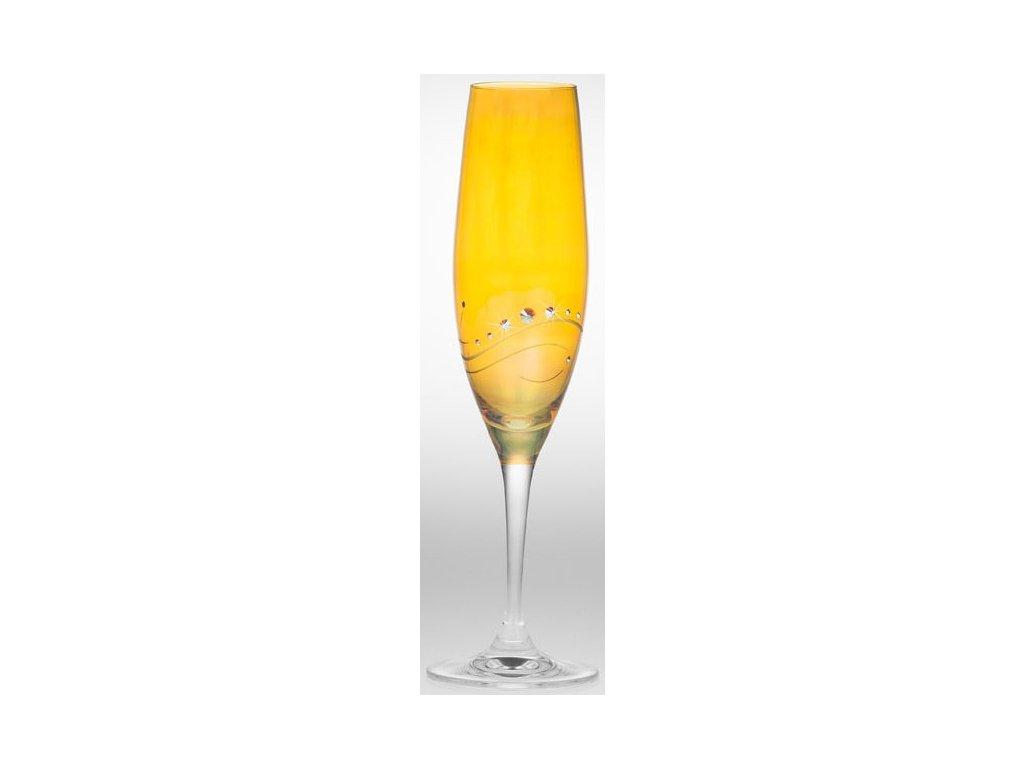 Marpoint - žluté sklenice Swarowski elements