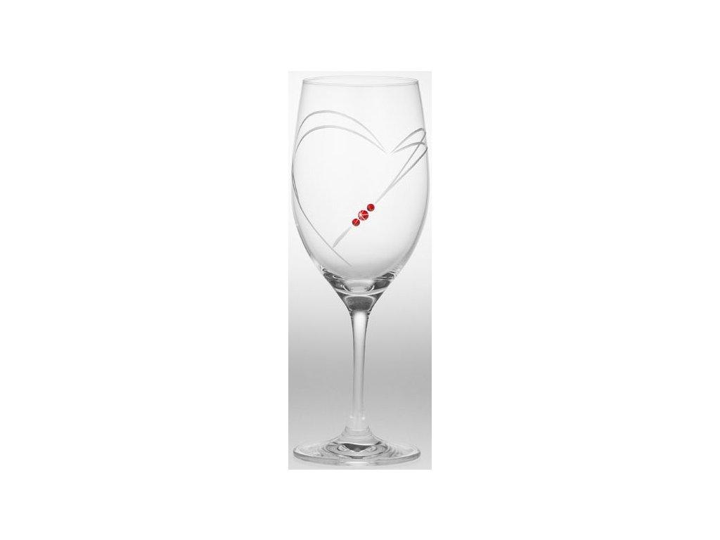 Sklenice na víno - 2ks / Swarowski Elements