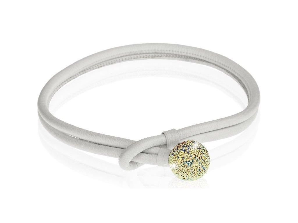 kožený náhrdelník se Swarowski elements