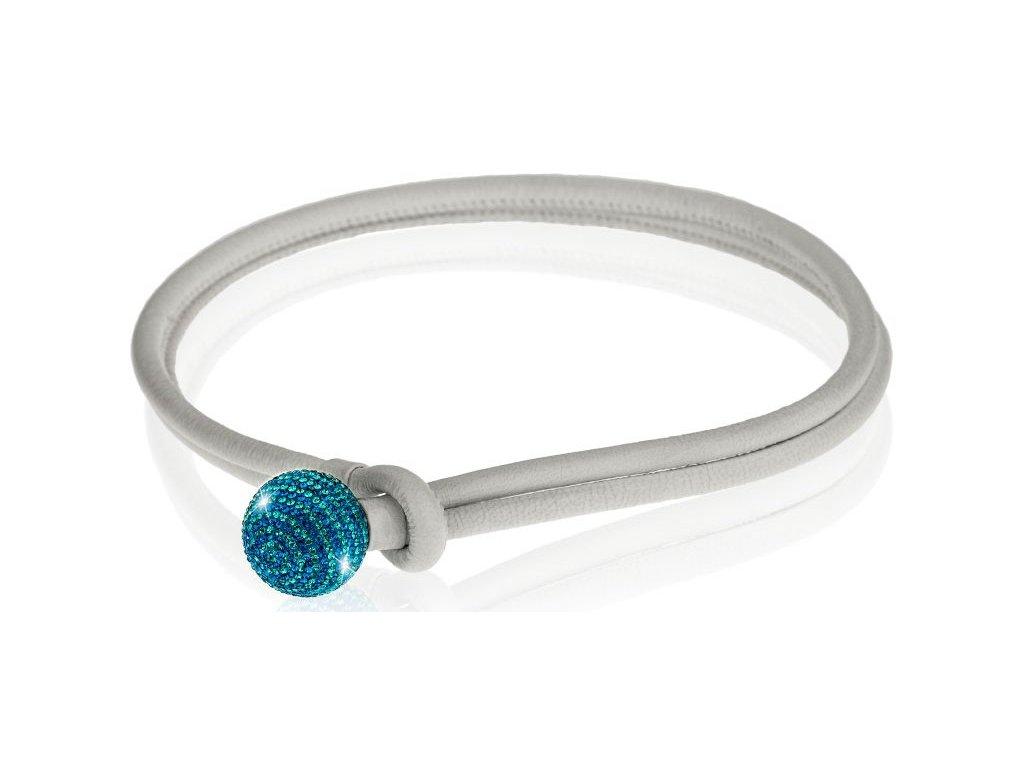 luxusní kožený náhrdelník ze Swarowski Elements