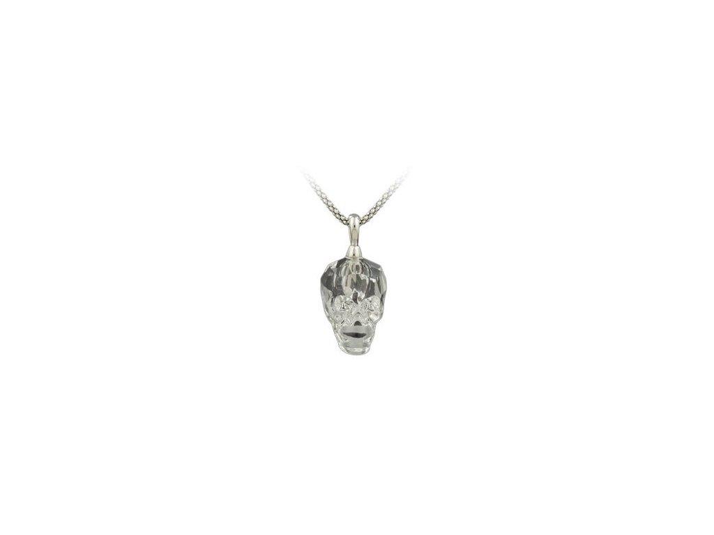Přívěsek na krk s řetízkem - Swarowski Elements Skull 19mm
