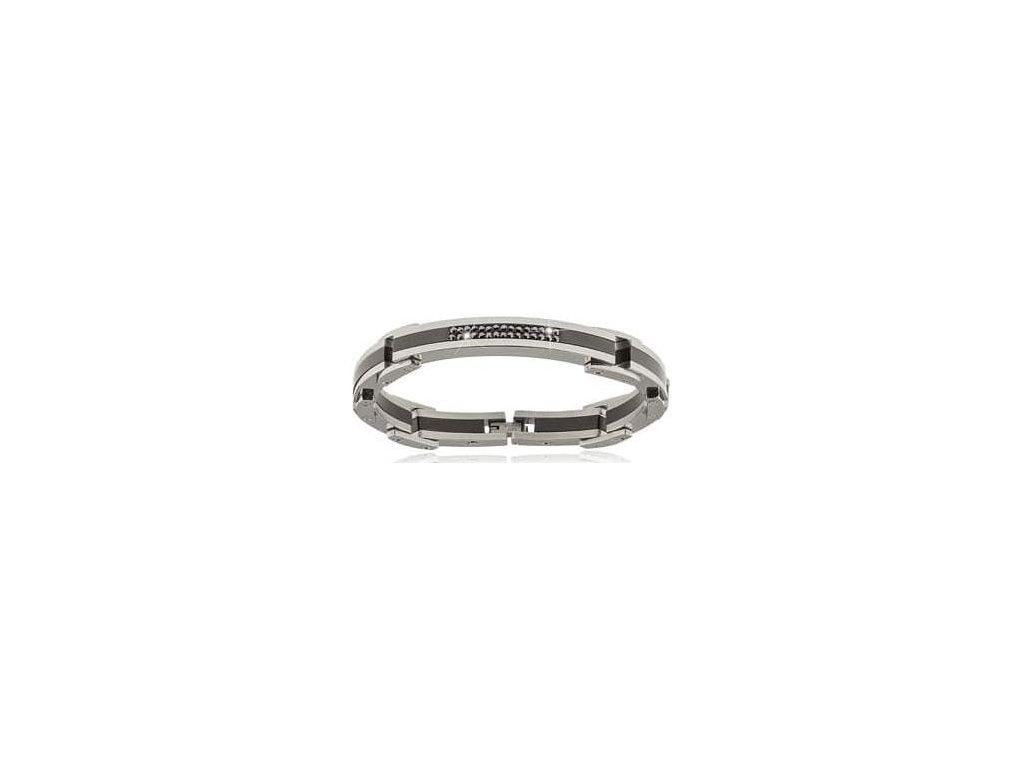Ocelový pánský náramek / Swarovski elements