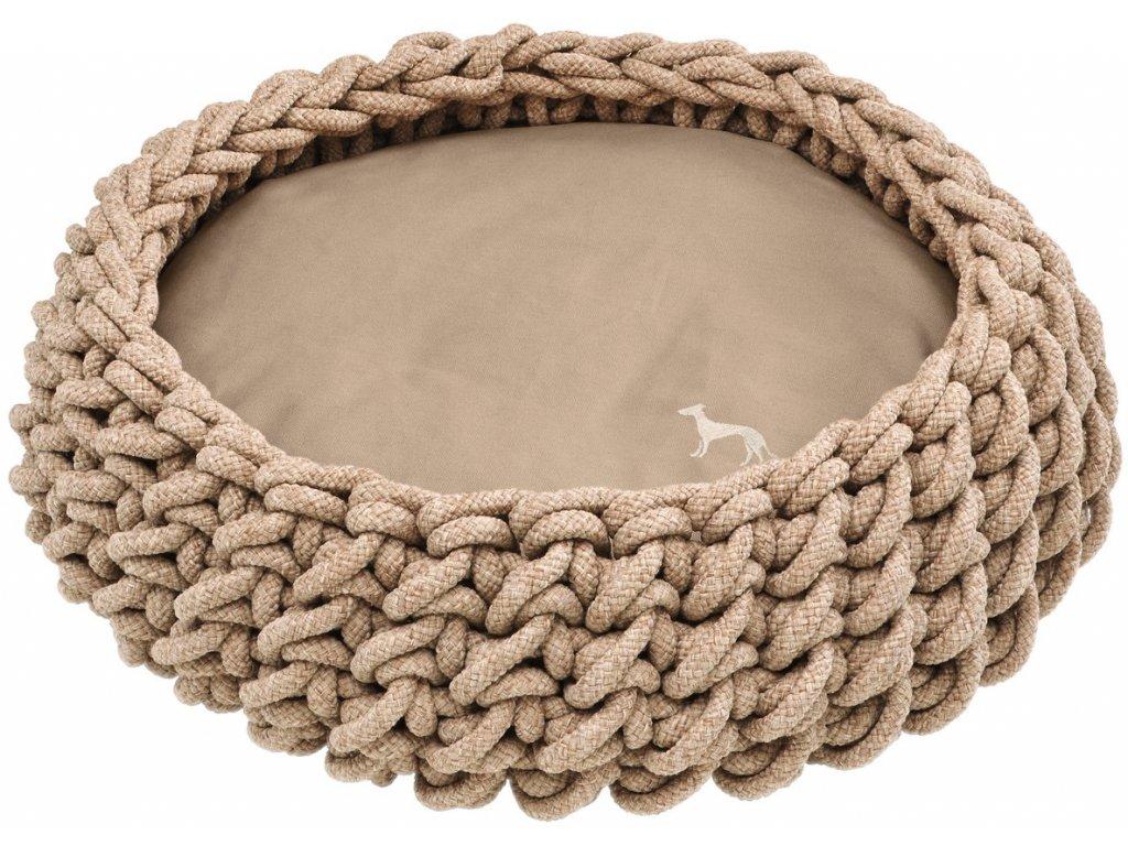 Ručně pletený košík pro psa Hunter Linz  béžová