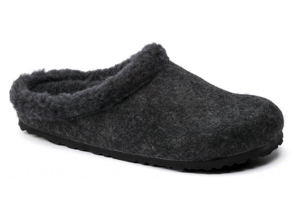 Zdravotní obuv Birkenstock Kaprun - Anthracite Happy Lamb Black