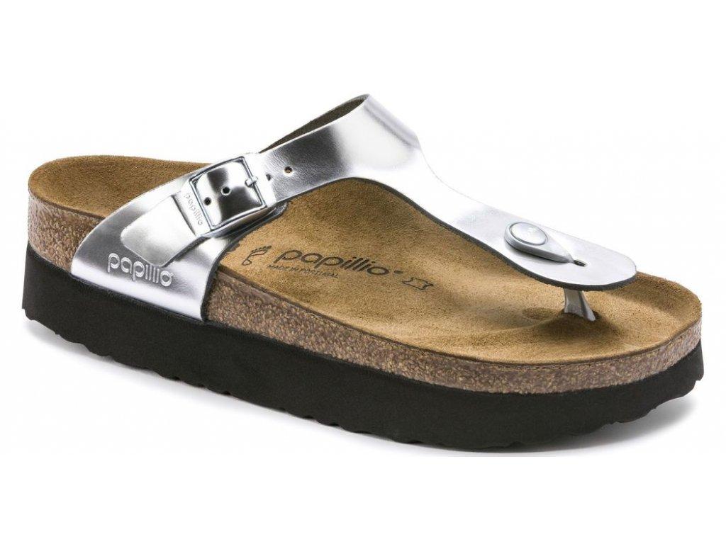 Papillio Gizeh Platform - Metallic Silver