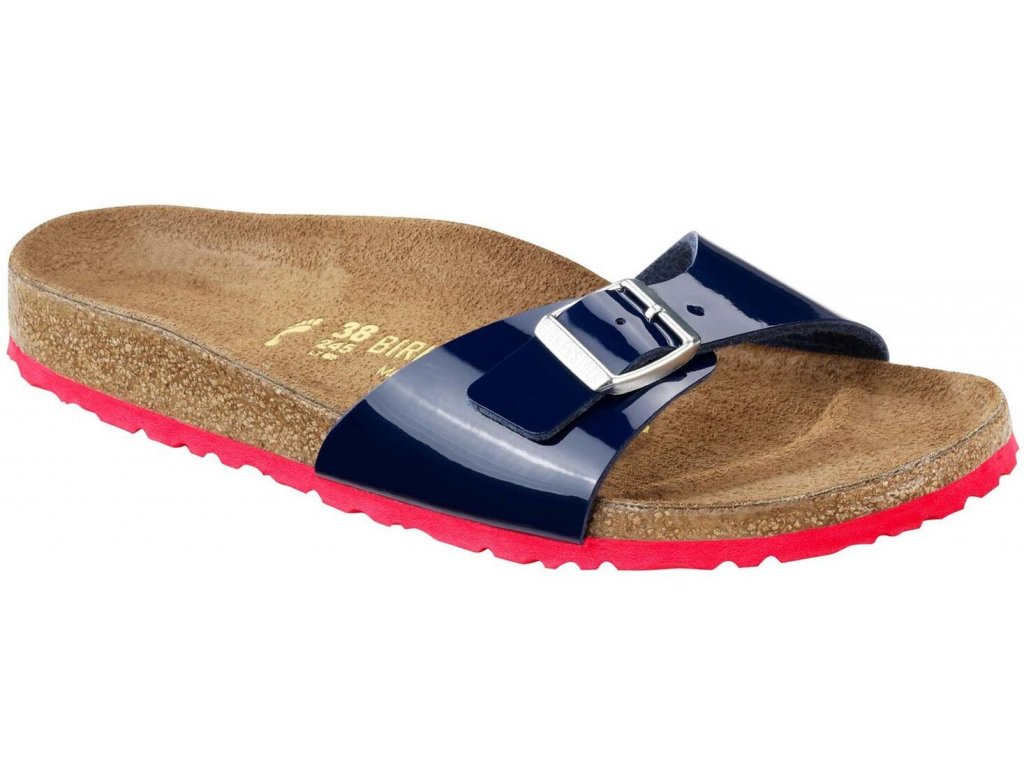 Birkenstock Madrid - Dress Blue Lack