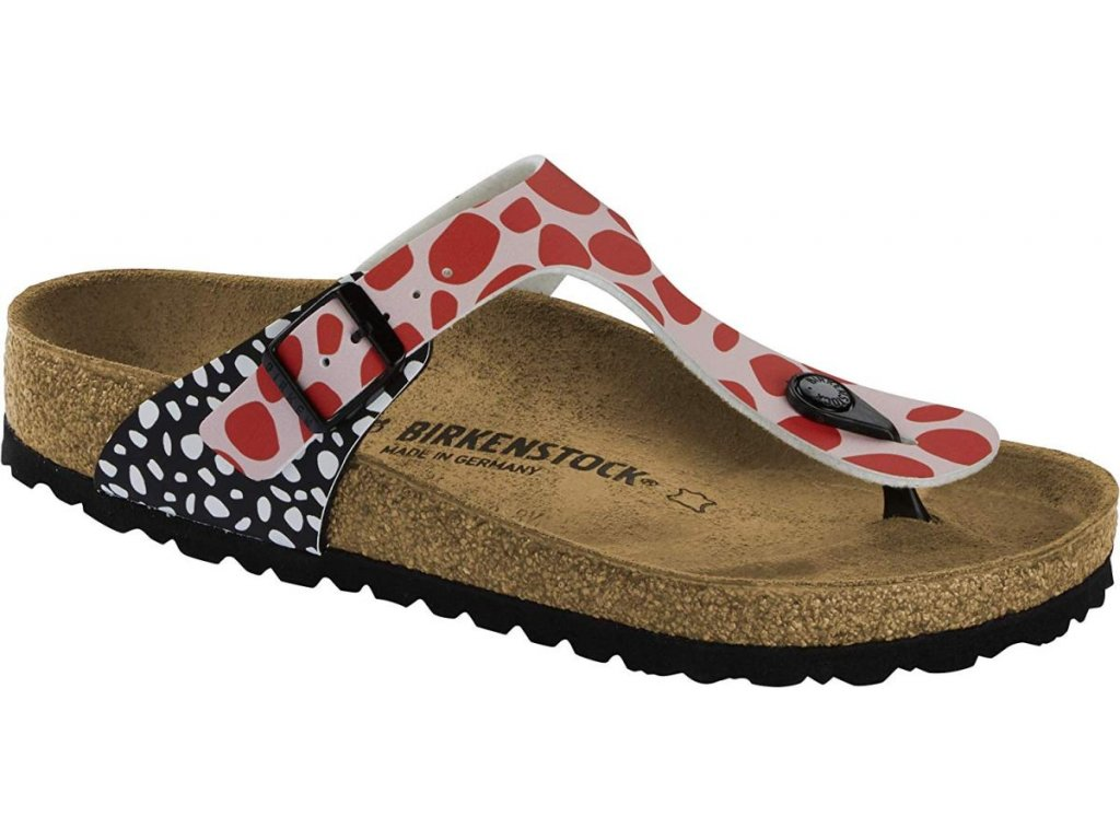 Birkenstock Gizeh - Two-tone Dots Pink/Red
