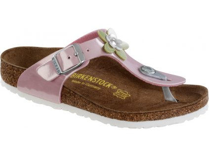 Birkenstock Gizeh Flower - Pearly rose lack