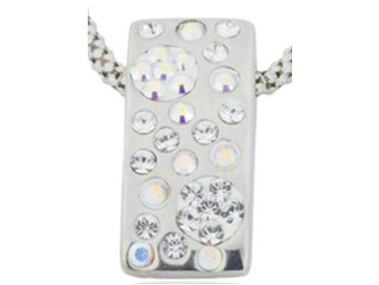 Swarovski Elements Přívěsek na krk Rectangle parts 19mm / crystal+crystal ab
