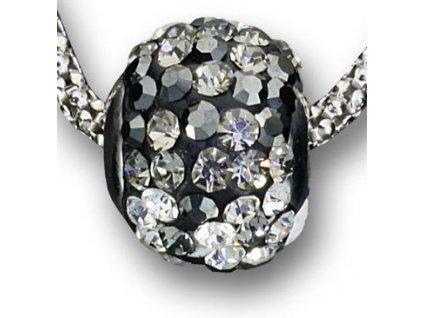 Swarovski Elementsl Přívěsek na krk - ring parts 10mm / jet+black diamond