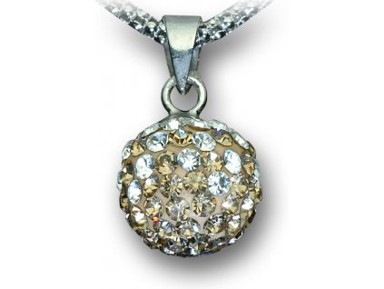 Swarovski Elements Přívěsek na krk - kulička 10mm / light topaz