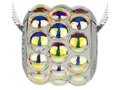 Swarovski Elements Přívěsek na krk s řetízkem BeCharmed Pavé Cabochon - 10,5mm / crystal ab