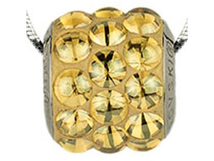 Swarovski Elements Přívěsek na krk s řetízkem BeCharmed Pavé Cabochon - 10,5mm / golden shadow