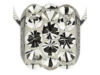 Swarovski Elements Přívěsek na krk s řetízkem BeCharmed Pavé Cabochon - 10,5mm / crystal