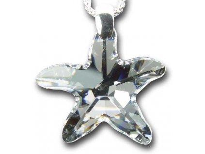 Swarovski Elements Přívěsek na krk - mořská hvězda 40mm / crystal
