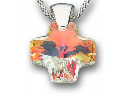 Swarovski Elements Přívěsek na krk - křížek 20mm / crystal ab