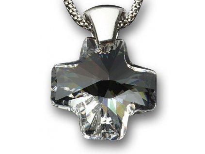 Swarovski Elements Přívěsek na krk křížek 20mm / crystal