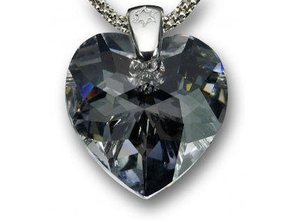 Swarovski Elements Přívěsek na krk - srdce (hodně broušené) 18mm / crystal