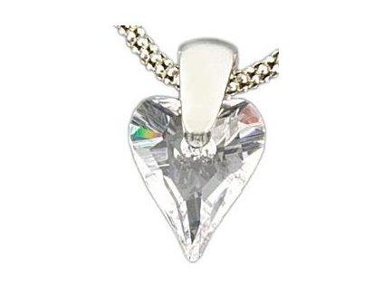 Swarovski Elements Přívěsek na krk - srdce 12mm / crystal