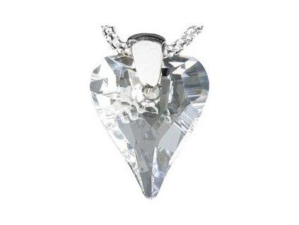 Swarovski Elements Přívěsek na krk - srdce 17mm / crystal