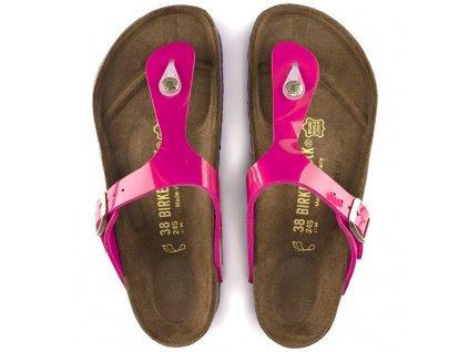 Birkenstock Gizeh - Pink lack + bílá podrážka