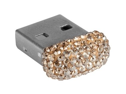 Swarovski Elements USB 8GB / Golden shadow