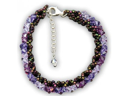 Swarovski Elements Náramek na ruku Malai small / tanzanite