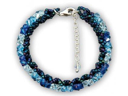Swarovski Elements Náramek na ruku Malai small / aquamarine