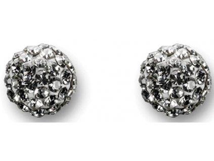 Náušnice Swarowski Elements - kulička 7mm / crystal