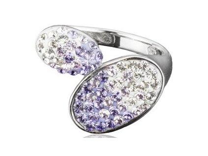 Prsten Swarovski Elements Lila parts - tanzanit, violet, crystal