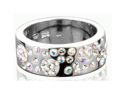 Prsten Swarovski Elements Round parts - crystal
