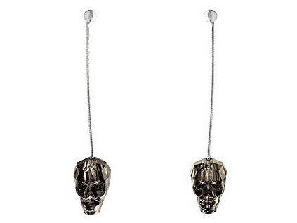 Visací náušnice Swarowski Elements - Skull