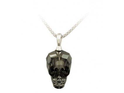 Přívěsek na krk s řetízkem - Swarowski Elements Skull