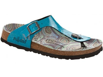 Papillio Gizeh - glossy wrinkles turquoise