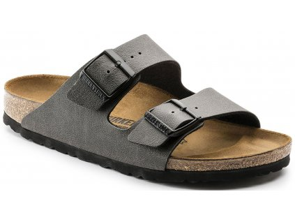 Birkenstock Arizona - Pull up anthracite / Birko-flor