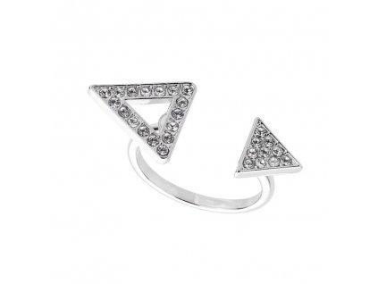 Prsten Geometrie - crystal, Swarovski Elements