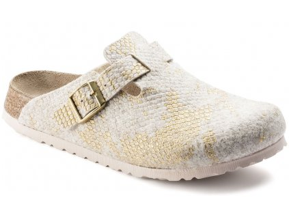 Papillio Boston - Shiny Felt Offwhite