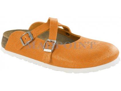 Birki Dorian - Glitter Crinkle Orange