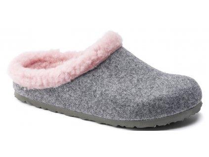 Zdravotní obuv Birkenstock Kaprun - Grey Happy Lamb Pink