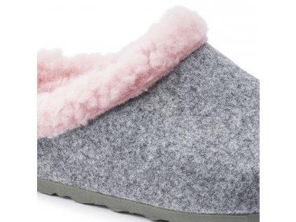 Birkenstock Kaprun - Grey Happy Lamb Pink