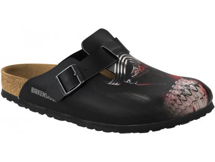 Birkenstock Boston Star Wars - Kyllo Ren Black Red