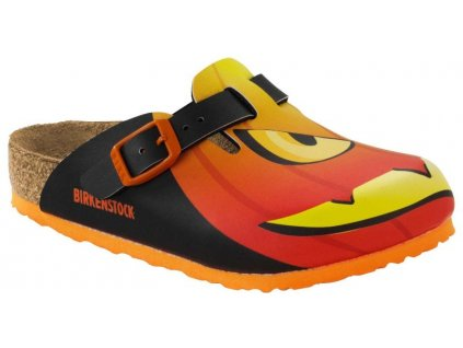 Birkenstock Boston - Halloween Pumpkin Black