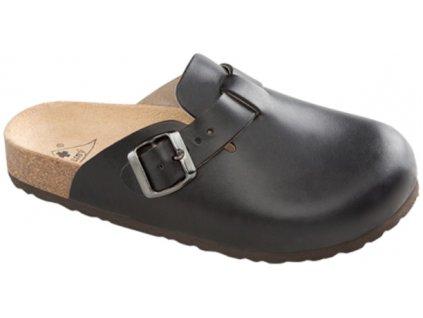 Zdravotní obuv Trento černá / kůže