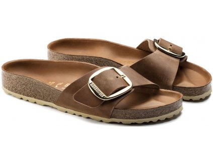 Birkenstock Madrid Big Buckle - Cognac