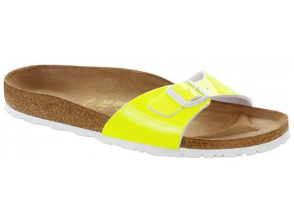 Birkenstock Madrid - Neon Yellow Lack