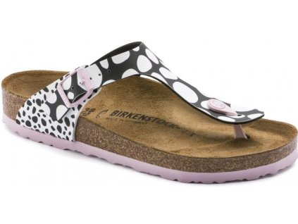 Birkenstock Gizeh - Two-tone Dots Black