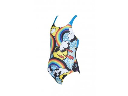 Rainbows Girl Swim Pro Back