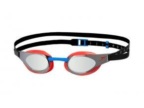 Speedo Fastskin 3 Elite Mirror Goggles Red Silver 1