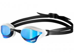 l arena cobra core mirror goggles blue white